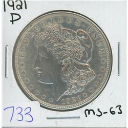 1921D MORGAN DOLLAR