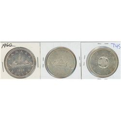 1962, 1963, 1964 CANADIAN SILVER DOLLARS