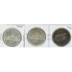 1965, 1966, 1967 CANADIAN SILVER DOLLARS
