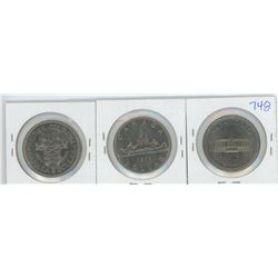 1971, 1972, 1973 CANADIAN SILVER DOLLARS