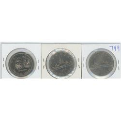 1974, 1975, 1976 CANADIAN SILVER DOLLARS