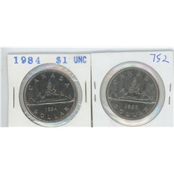 1984, 1985 CANADIAN SILVER DOLLARS