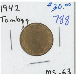 1942 TOMBAC CANADIAN FIVE CENT PIECE