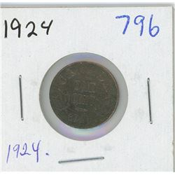 1924 CANADIAN ONE CENT