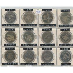 1971-1980 CALGARY STAMPEDE SET *12 COINS*