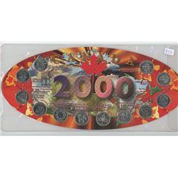 2000 CANADIAN COMMEMORATIVE QUARTER SET