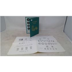 1601-1870 JAPANESE COIN SET IN BOOK