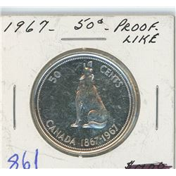 1967 PROOF LIKE 50 CENT PIECE