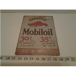 MOBILOIL TIN SIGN (REPRO)