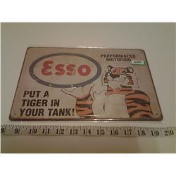 ESSO TIN SIGN EMBOSSED (REPRO)