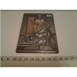 MOTORCYCLE TIN SIGN EMBOSSED (REPRO)