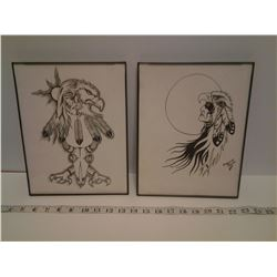 2X NATIVE AMERICAN PRINTS (ONE BY ANDREW STIMSON)