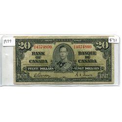 BC-25B 1937 $20.00 GORDON-TOWERS