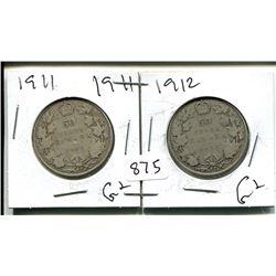 1911, 1912 GEORGE V 50 CENT - CANADIAN