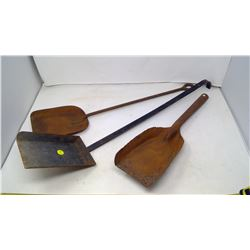 3 Vintage Fire Place Shovels