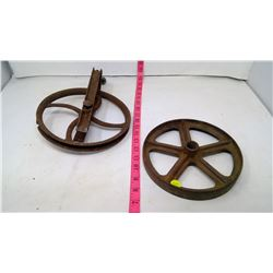2 Antique Pullies