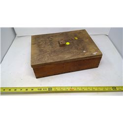Wooden Box filled w/ Assorted Locks