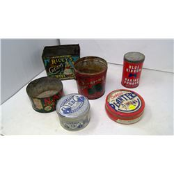 6 Assorted Tins