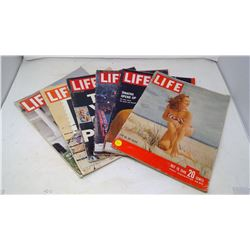 6 Editions of Life Magazine (1960's)