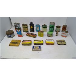 Medicine Containers and Other Assorted Small Tins