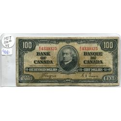 ONE 1937 $100.00 BILL (COYNE-TOWERS)
