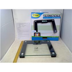 Extra Wide Talking Scale - 550lb Capacity