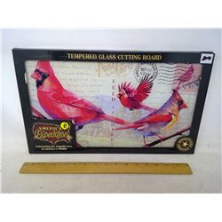 Tempered Glass Cardinal Cutting Board
