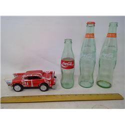 Coke Car and Bottles