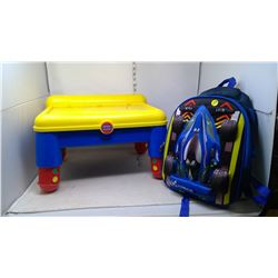Race Car and Kids Art Table