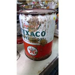 5 GALLON TEXACO PAIL