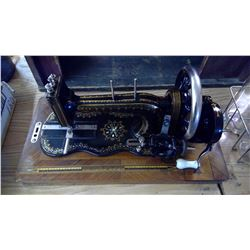 PRIMIER SEWING MACHINE IN WOODEN CASE