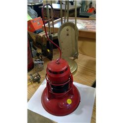 RED GLASS M. LAFRENIERE TRAIN LAMP