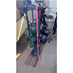 PUMP JACK W/ ELECTRIC MOTOR (BAKER MF. G CO. 3/4 HP, EVANSVILLE, WI)