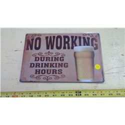TIN SIGN - REPRODUCTION