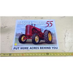 MASSEY HARRIS 55 TIN SIGN - REPRODUCTION