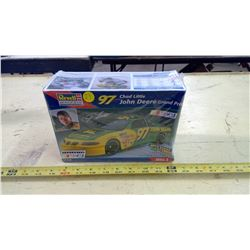 JOHN DEERE PLASTIC RACE CAR MODEL