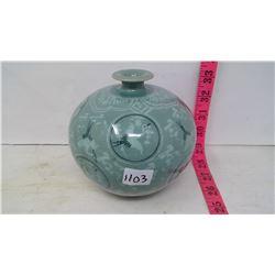 South Korean Celadon Ceramic Handmade Vase