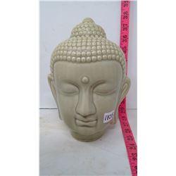 Celadon Jade, Green Ceramic Buddha Head