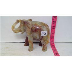 Onyx Polished Stone Carving Of Elephant