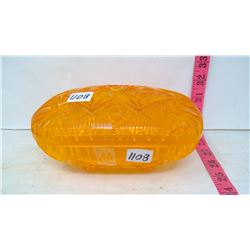 Golden Sun Amber Candy Dish Container