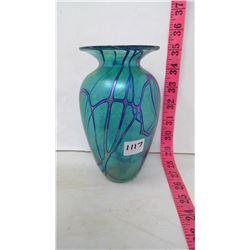 Art Deco Style Art Glass Vase by Robert Held