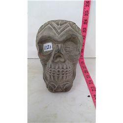 Life Size Basalt Stone Skull