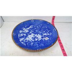 Japanese Cobalt Blue Porcelan Large Dish