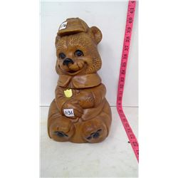 Smokey Bear Cookie Jar Vintage 1950