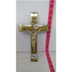 Crucifix, Brass, 1940 - 3lbs