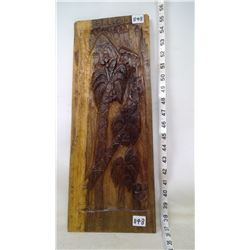 Woodcarving - Wall Plaque - Palm Mountains, lovers