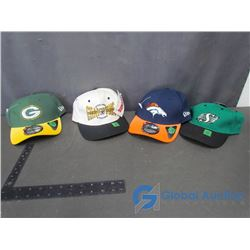 (4) New Ball Caps - Green Bay Packers, Denver Broncos, Pittsburg Steelers and Saskatchewan Roughride