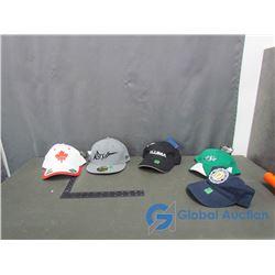 (5) Ball Caps - Saskatchewan Rush, Saskatchewan Roughriders, Canadian Olympic, Aluma and Tommy Hilfi