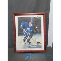 1964 Frank Mahovlich Toronto Maple Leafs Framed Picture