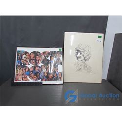 Dolly Parton Print and Rock'n'Roll Artwork